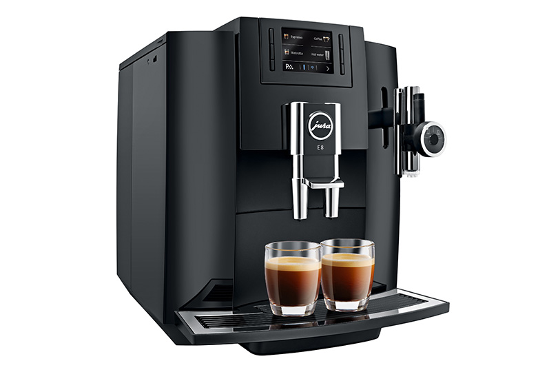 e8 jura coffee machines specialities latte macchiato cappuccino espresso and coffee. Black Bedroom Furniture Sets. Home Design Ideas